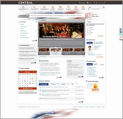 drupal themes intranet