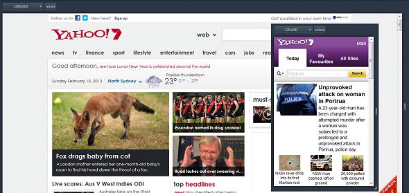 Yahoo's Homepage in Australia