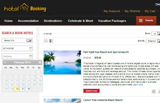 Magento extension set up an easy hotel booking version 2 for Site reserver hotel