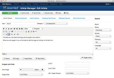 Joomla 3.0 CMS Optimized for Mobile Devices and Administrators ...