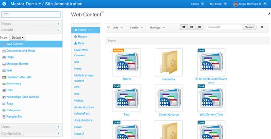 Liferay Portal 6.2 Control Panel