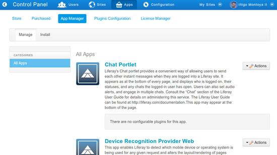 Liferay Portal 6.2 App Manager