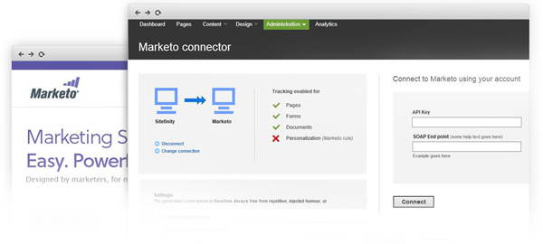 Sitefinity Market Connector