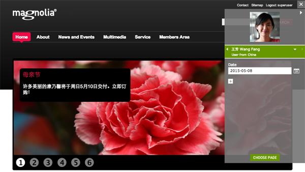 Screenshot of Magnolia 5.3