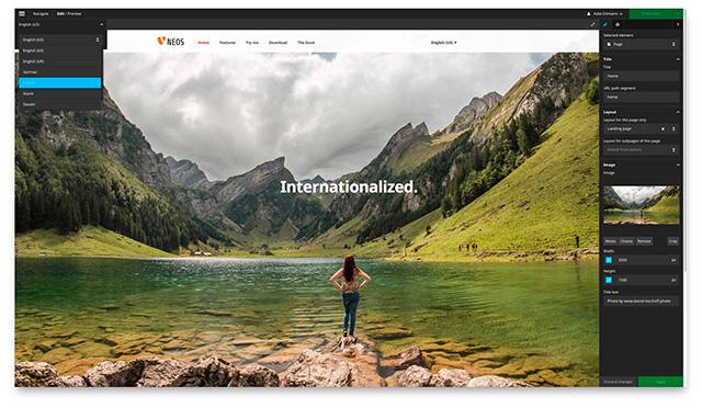 TYPO3 Neos 1.2 Screenshot