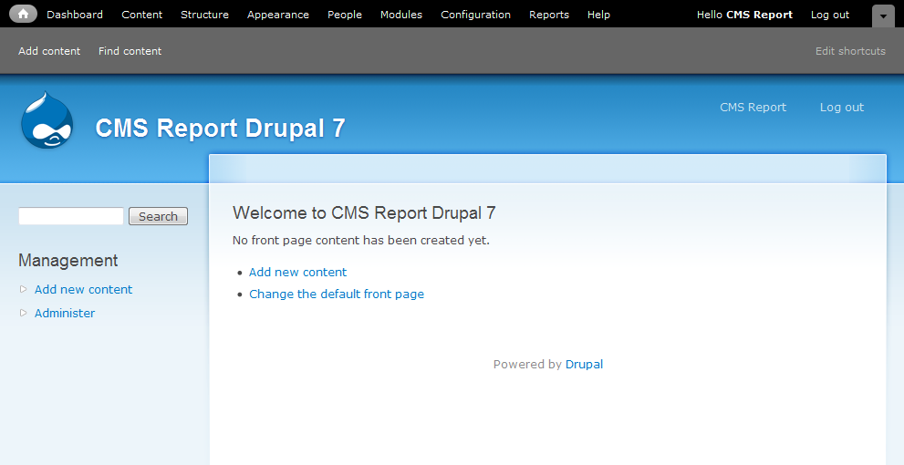 Welcome to Drupal 7