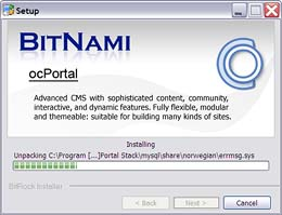 ocPortal with the Bitnami stack installer