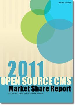 WaterandStone's 2011 Open Source CMS Markert Share Report