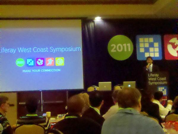 Bryan Cheung presenting at Liferay WCS 2011