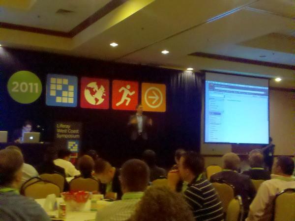 Paul Hinz presenting at Liferay WCS 2011