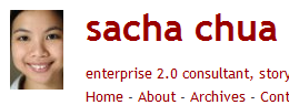 Partial Screenshot from Sacha's Site