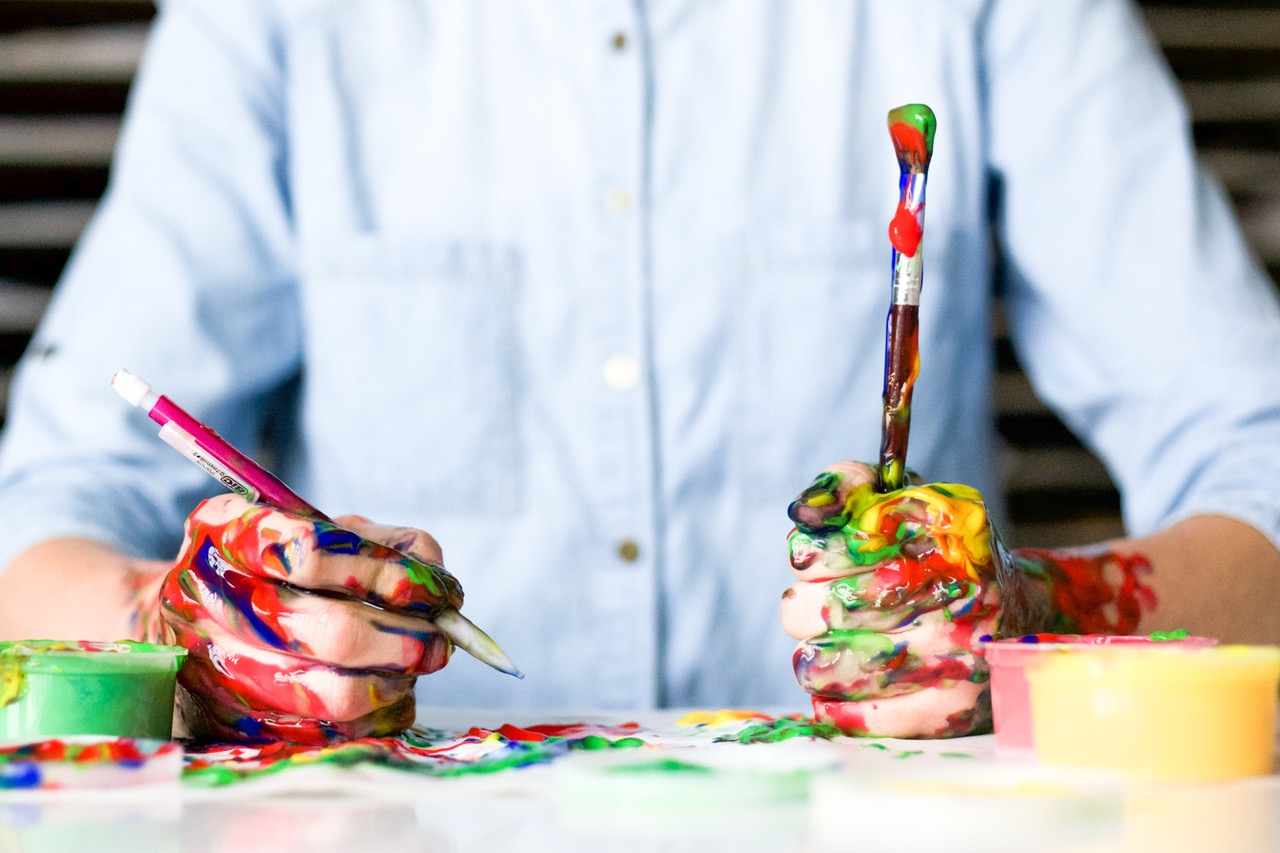 Man with paint brush - Image provided by author