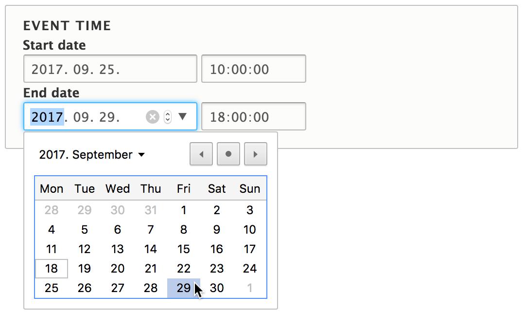 Datetime Range User Interface