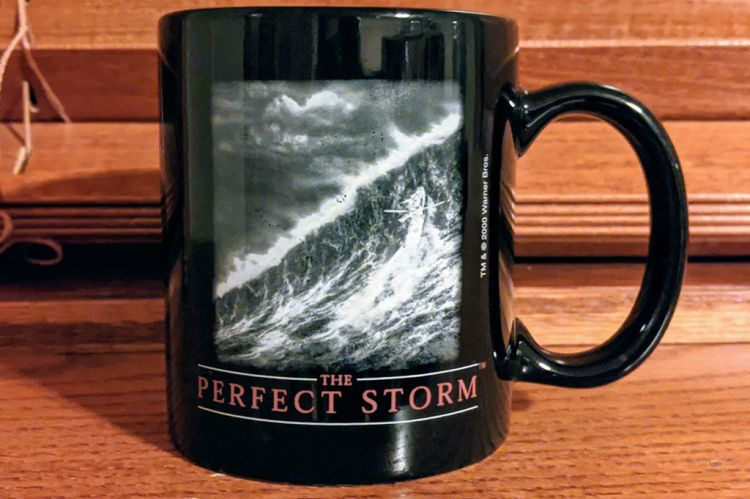 Coffee Cup with image from Perfect Storm Movie