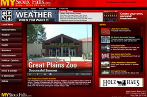 Screenshot of MySiouxFalls.com