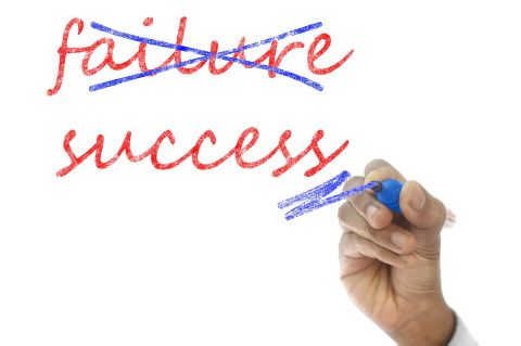 Failure crossed out and success written on side. CC0 Creative Commons - via pixabay