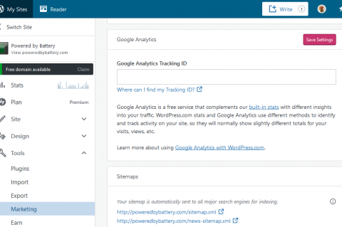 Google Analytics in WordPress