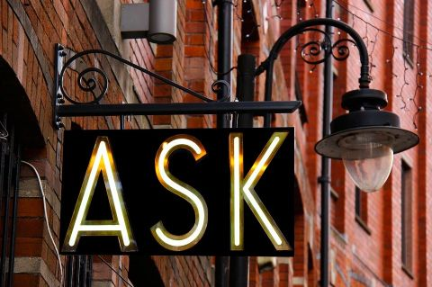 Sign that says ASK